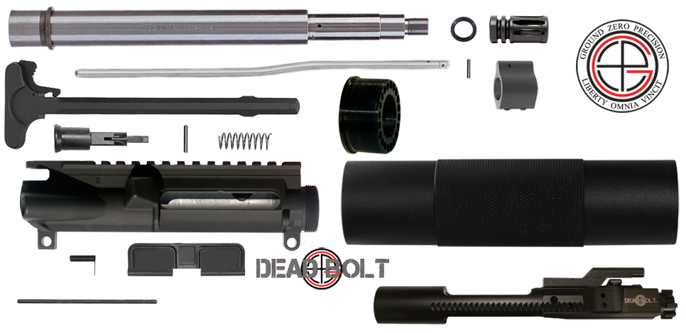 "DIY 10.5"" Stainless .223/5.56 AR15 Pistol Upper Receiver Project Kit"