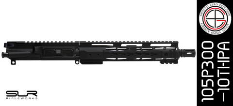 "10.5"" Free-Floated KEYMOD 300 Blackout AR-15 Upper Receiver with SLR Rifleworks Adjustable Gas"