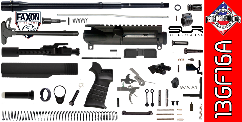 "DIY 16"" FAXON Multi-Gun Competition AR-15 Rifle Kit with SLR Adjustable Gas (3GF16A)"