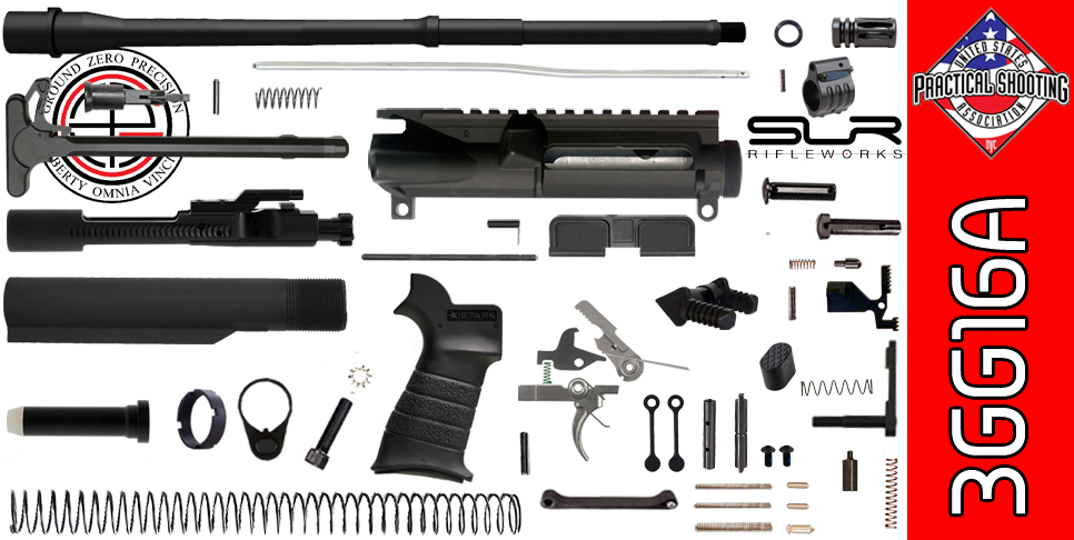 "DIY 16"" Multi-Gun Competition AR-15 Rifle Kit with SLR Adjustable Gas (3GG16A)"