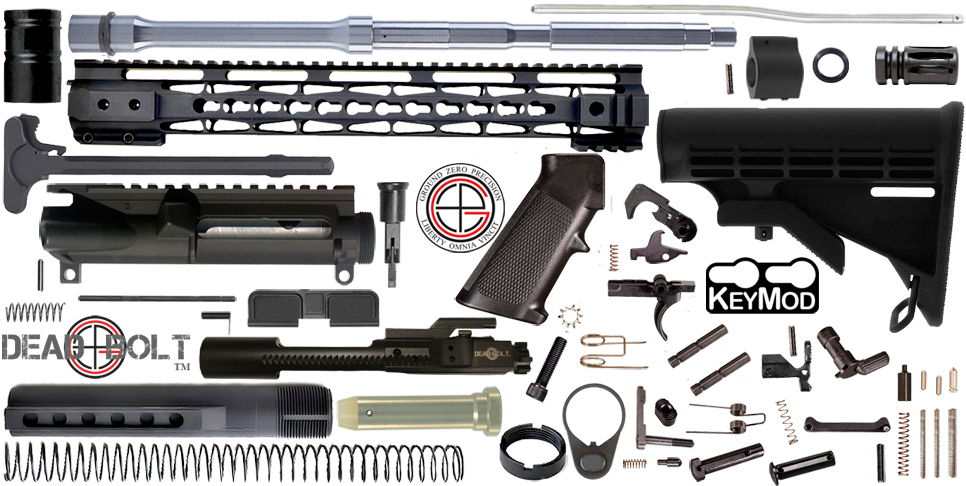 "DIY 16"" Stainless .223 / 5.56 Wylde AR15 Project Kit With KEYMOD Free-Float Handguard"