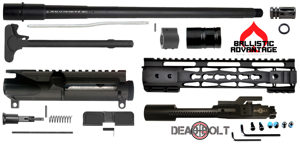 "DIY 16"" Ballistic Advantage 300 Blackout Upper Receiver Project Kit (2) - FREE SHIPPING"