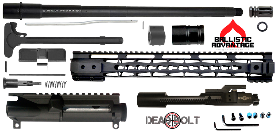 "DIY 16"" Ballistic Advantage 300 Blackout Upper Receiver Project Kit (3) - FREE SHIPPING"