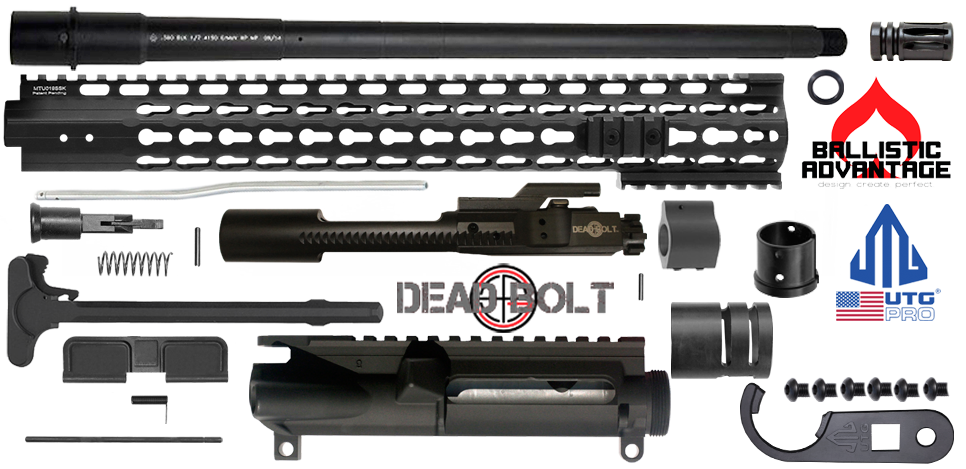 "DIY 16"" Ballistic Advantage 300 Blackout Upper Receiver Project Kit with UTG-PRO Super Slim Keymod Rail"