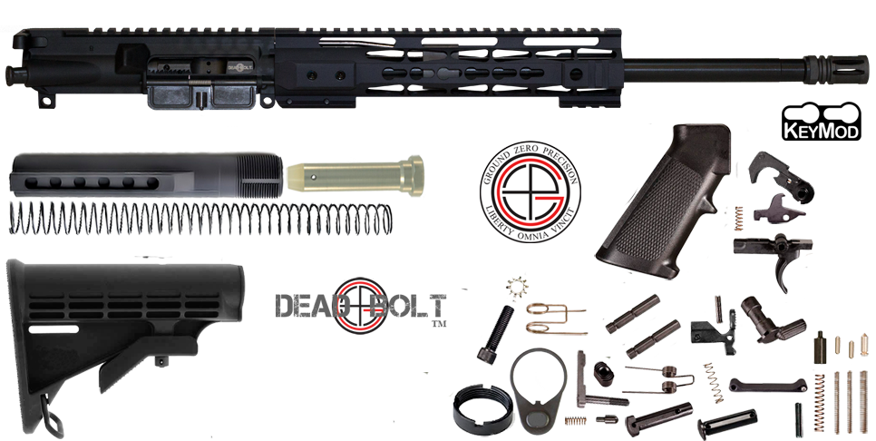 "Quick Build16"" Ballistic Advantage 300 Blackout AR15 Project Kit With KEYMOD Free-Float Handguard"