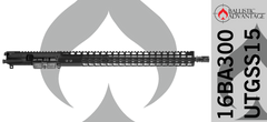 "16"" Ballistic Advantage 300 BLK Complete AR15 Upper Receiver with 15"" Keymod Free-Float Handguard"
