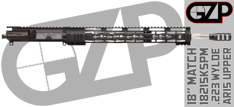 Aero/GZP Spiral Fluted Stainless Match .223 Wylde AR15 Upper Receiver - 18215KSPM