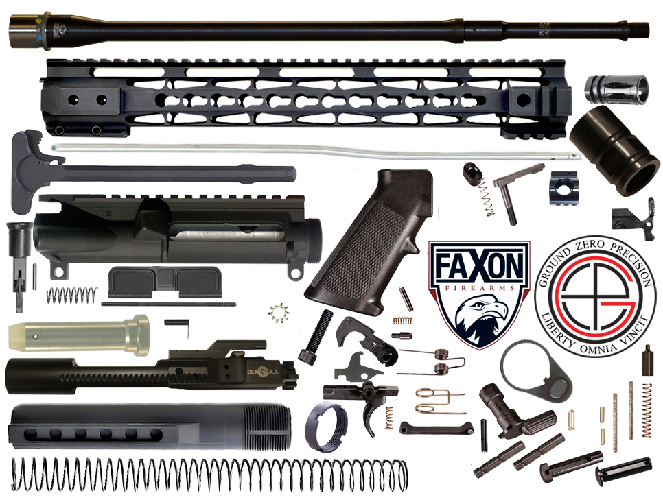 "DIY 18"" Mult-Gun Competition FAXON AR15 Rifle Project Kit With 15"" Tac-Hunter KEYMOD Free Float Rail"
