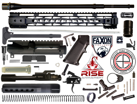 "DIY 18"" Mult-Gun Competition FAXON AR15 Rifle Project Kit With 15"" Tac-Hunter KEYMOD Free Float Rail - FREE SHIPPING"