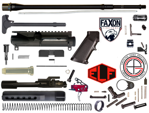 "DIY 18"" Multi-Gun Competition FAXON AR15 Rifle Project Kit 3F"