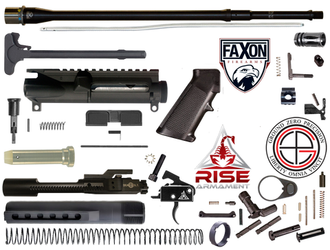 "DIY 18"" Multi-Gun Competition FAXON AR15 Rifle Project Kit 2F"