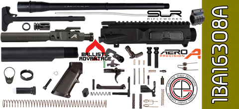 "DIY 16"" Ballistic Advantage SOCOM DPMS Profile AR .308 Project Kit with Adjustable Gas (1BA16308A) - FREE SHIPPING"