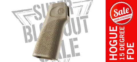 Hogue 15° AR Pistol Grip Without Finger Groove - FDE
