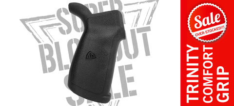 Trinity Force Alpha Deluxe Rubber OverMolded AR Pistol Grip - Black