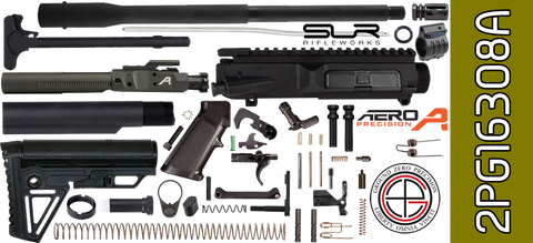 "DIY 16"" SOCOM DPMS Profile AR .308 Project Kit with Alpha Stock & Adjustable Gas (2PG16308A) - FREE SHIPPING"