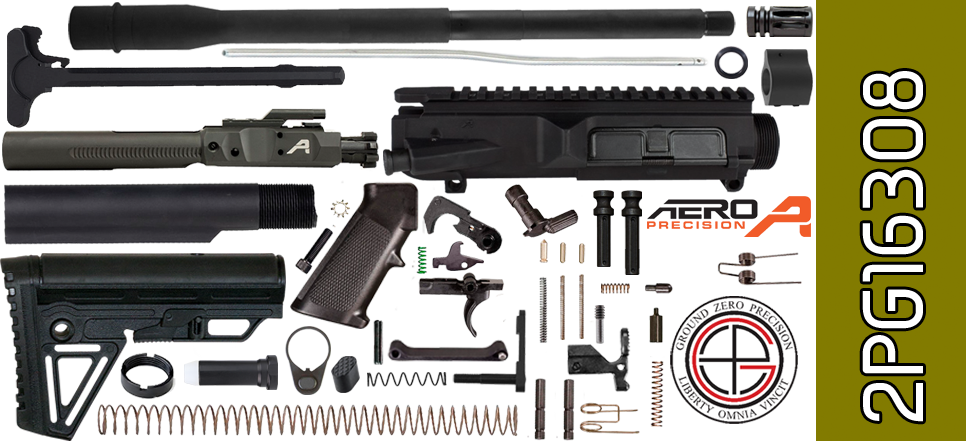 "DIY 16"" SOCOM DPMS Profile AR .308 Project Kit with Alpha Stock"