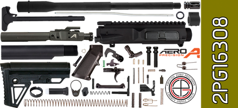 "DIY 16"" SOCOM DPMS Profile AR .308 Project Kit with Alpha Stock (2PG16308)"