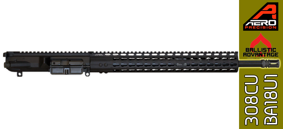"18"" Custom Ballistic Advantage & Aero Precision AR .308 WIN Complete Upper Receiver"