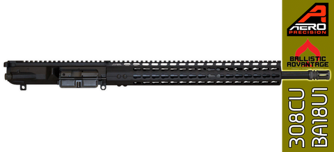"18"" Custom Ballistic Advantage & Aero Precision AR .308 WIN Complete Upper Receiver - FREE SHIPPING"