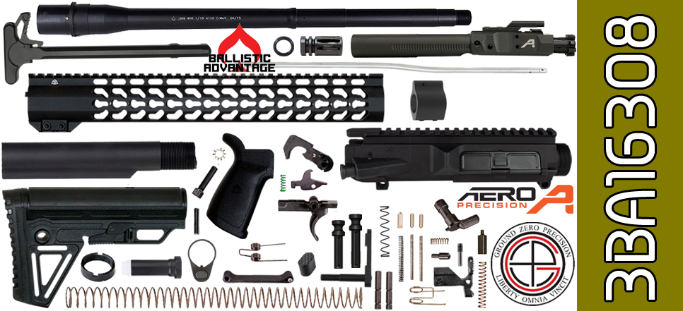 AR10 kit 308 Ballistic Advantage Aero Precision 18 15