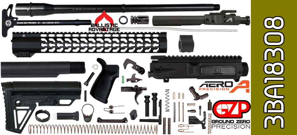 AR 10 Kit Aero Precision Ballistic Advantage Free Float 18