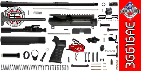 "DIY 16"" Multi-Gun Competition AR-15 Rifle Kit with Elftmann 3-Gun Trigger & SLR Adjustable Gas (3GG16AE) - FREE SHIPPING"