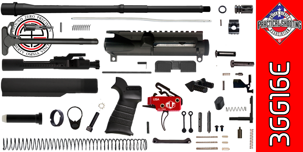 "DIY 16"" Multi-Gun Competition AR-15 Rifle Kit with Elftmann 3-Gun Trigger (3GG16E)"