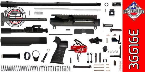 "DIY 16"" Multi-Gun Competition AR-15 Rifle Kit with Elftmann 3-Gun Trigger (3GG16E) - FREE SHIPPING"
