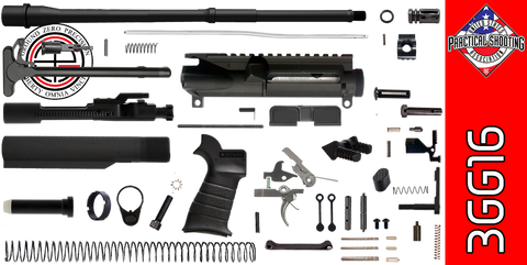 "DIY 16"" Multi-Gun Competition AR-15 Rifle Kit (3GG16) - FREE SHIPPING"