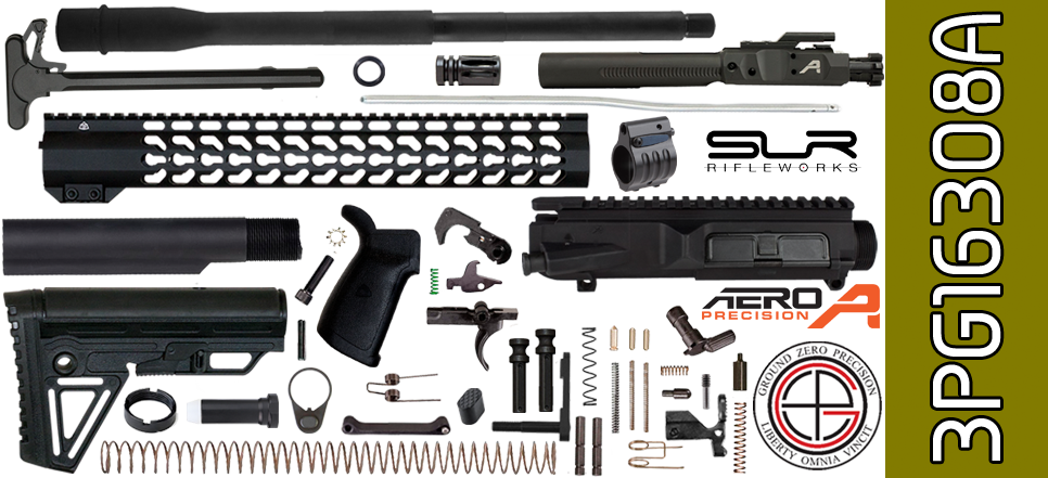"DIY 16"" SOCOM Free-Floated Keymod DPMS Profile AR .308 Project Kit with Alpha Stock & Adjustable Gas"