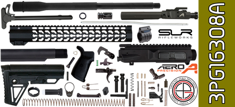 "DIY 16"" SOCOM Free-Floated Keymod DPMS Profile AR .308 Project Kit with Alpha Stock & Adjustable Gas (3PG16308A)"
