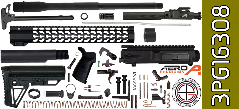 "DIY 16"" SOCOM Free-Floated Keymod DPMS Profile AR .308 Project Kit with Alpha Stock"
