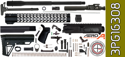 "DIY 16"" SOCOM Free-Floated Keymod DPMS Profile AR .308 Project Kit with Alpha Stock (3PG16308) - FREE SHIPPING"