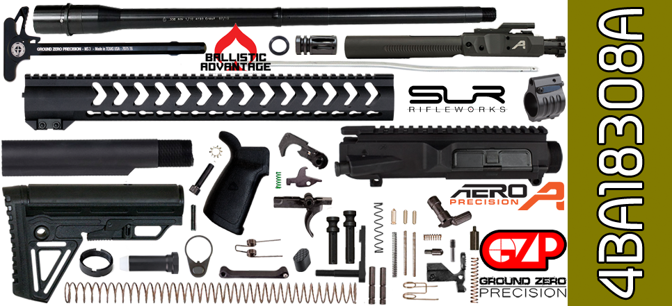 AR 10 kit 308 Ballistic Advantage Aero Precision SLR Rifleworks Free Float 18 Vapor X