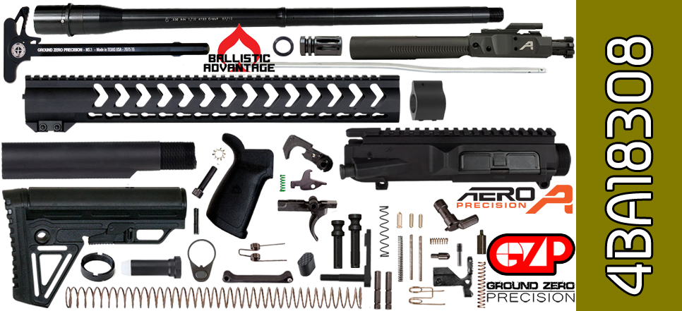 AR 10 Kit Aero Precision Ballistic Advantage Free Float 18 Vapor X