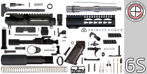 "DIY 7.5"" Stainless .223 / 5.56 AR-15 Pistol Project Kit with 7"" P1812 KEYMOD Free-Float Handguard (6S) - FREE SHIPPING"