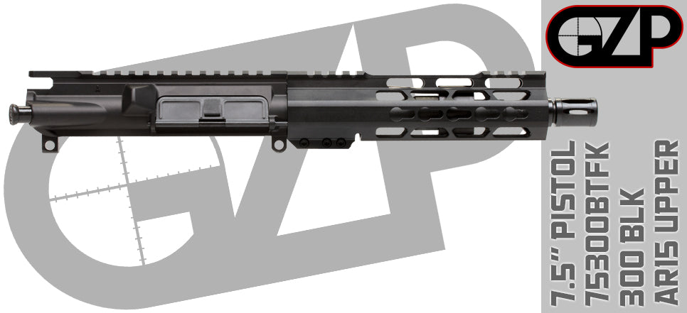 Aero/GZP Lightning Series 300 Blackout AR15 Pistol Upper Receiver - 75300BTFK