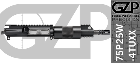 "7.5"" Free-Floated .223 / 5.56 AR-15 Upper Receiver - (75P25W-4TUXX) No BCG, No Charging Handle"