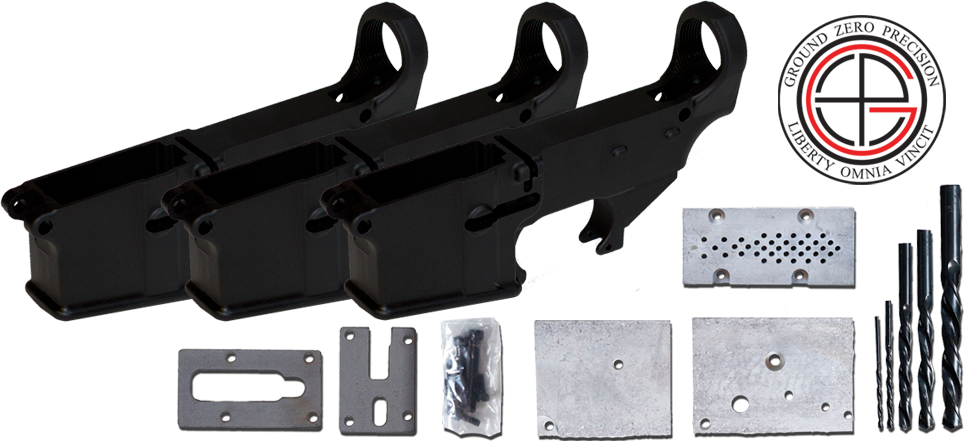 Mil-Spec 80% AR15 Lower Receiver 3 PACK with Milling Jig