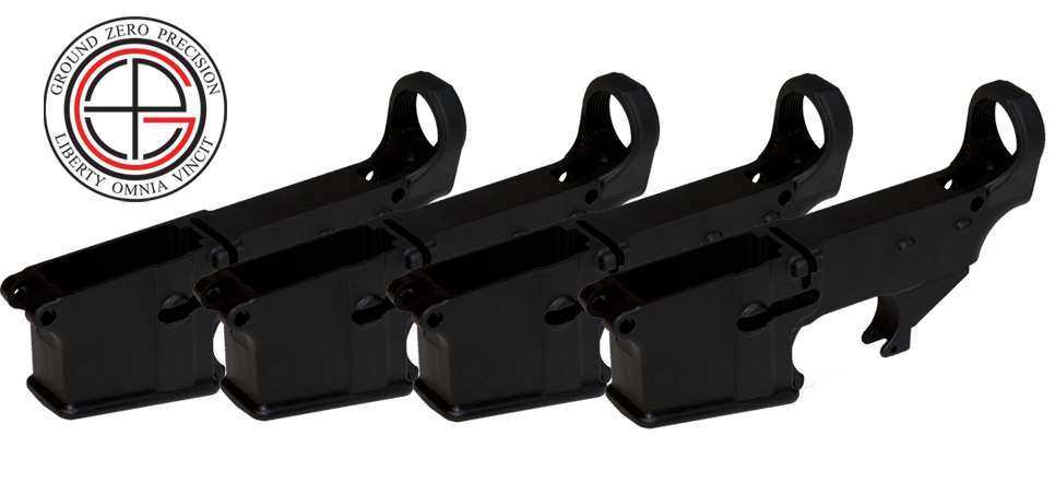 Mil-Spec 80% AR15 Lower Receiver - 4 PACK