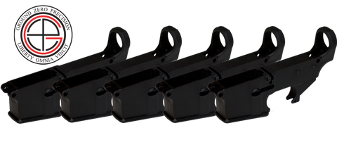 7075-T6 Hard Coat Anodized Mil-Spec 80% AR15 Lower Receiver - 5 PACK