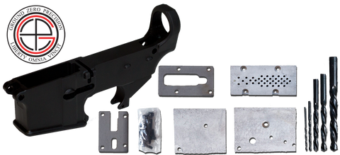 7075-T6 Hard Coat Anodized Mil-Spec 80% AR-15 Lower Receiver with Milling Jig