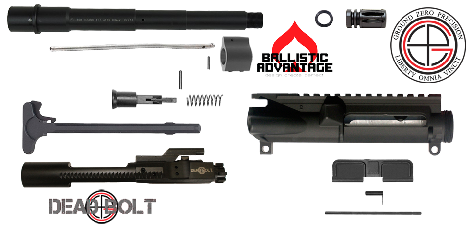 "DIY 9"" 300 BLACKOUT AR15 Upper Receiver Project Kit"