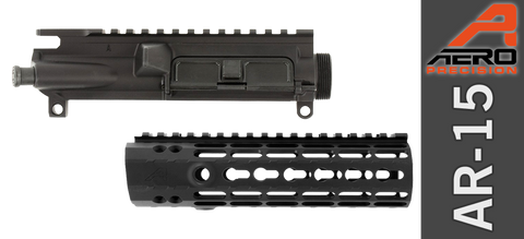 "7"" Aero Precision Assembled AR-15 Upper & Enhanced Keymod Handguard Combo - Gen II - Black"
