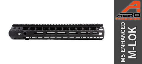"12"" Aero Precision M5 Enhanced M-LOK Handguard for DPMS Profile (High) AR .308 - Black"