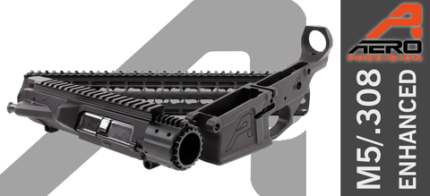 "Aero Precision M5E1 Enhanced .308 Builder Set w/ Gen 2 15"" KeyMod Handguard - Black"