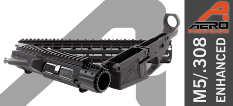"Aero Precision M5E1 Enhanced .308 Builder Set w/ Gen 2 15"" M-LOK Handguard - Black"