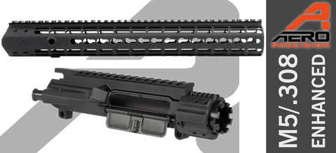 "Aero Precision M5E1 Enhanced .308 Upper Receiver / Gen 2 15"" Keymod Handguard Combo Set - Black"
