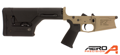 Aero Precision M5 Enhanced Complete Lower Receiver w/ Magpul MOE & PRS® - FDE Cerakote