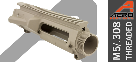 Aero Precision M5 Threaded Stripped .308 Upper Receiver - FDE